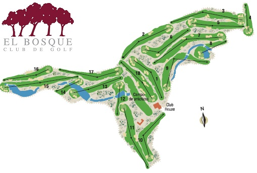 El Bosque course map