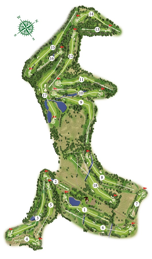 La Manga Club West Course Map