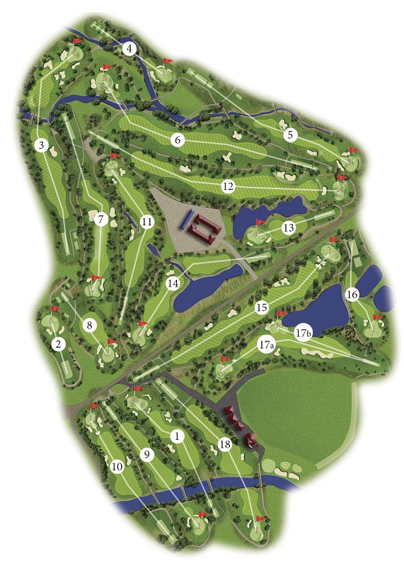 La Manga Club North Course Map